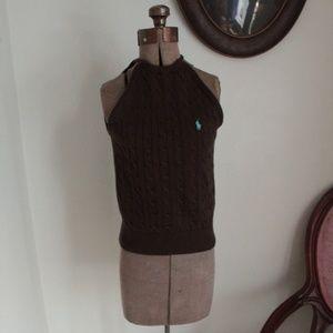 Ralph Lauren Sleeveless Cabled Sweater
